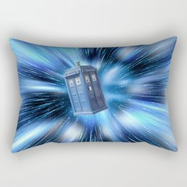 Doctor Who's TARDIS travelling through time BBC Rectangular Pillow