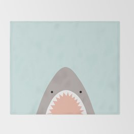 shark attack Throw Blanket