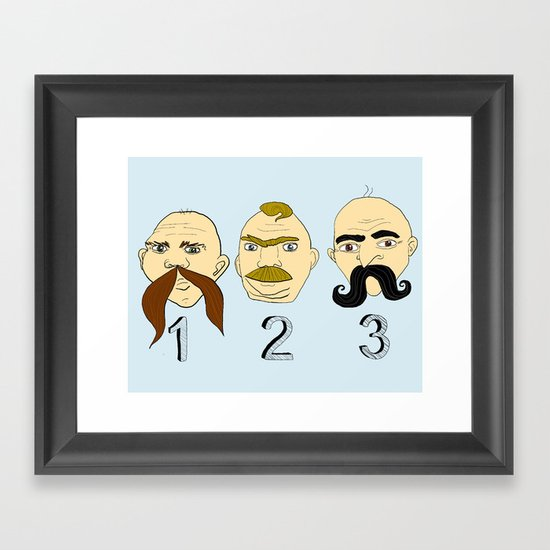 The Three Mustaches Framed Art Print