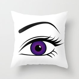 Violet Left Eye Throw Pillow