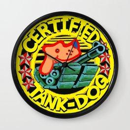 Certified Tank Dog Wall Clock