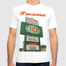 World Famous B&I MEDIUM Mens Fitted Tee White