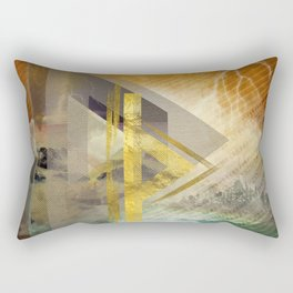 Thurisaz  Rune Digital Art composition Rectangular Pillow