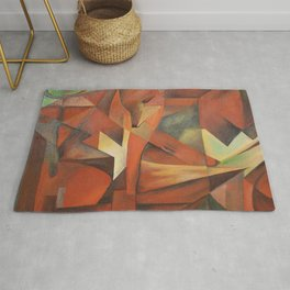 Foxes - Homage to Franz Marc (1913) Rug