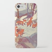color iPhone & iPod Cases featuring Fisher Fox by Teagan White
