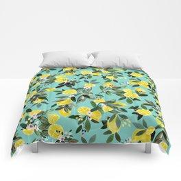 Summer Lemon Floral Comforters