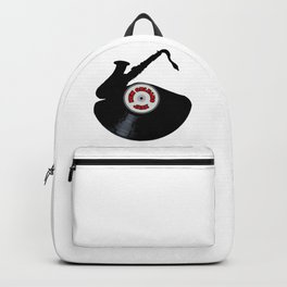 New Orleans Jazz Music Silhouette Record Backpack