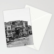 Along the Grand Canal b&w Stationery Cards