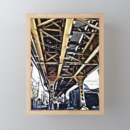 Under the El Tracks Framed Mini Art Print