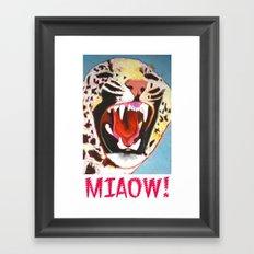 Big Cat Miaow! Framed Art Print