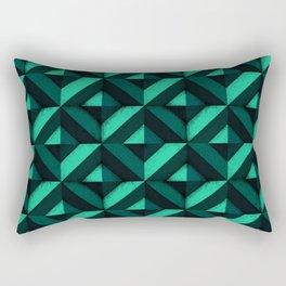 Concrete wall - Emerald green Rectangular Pillow