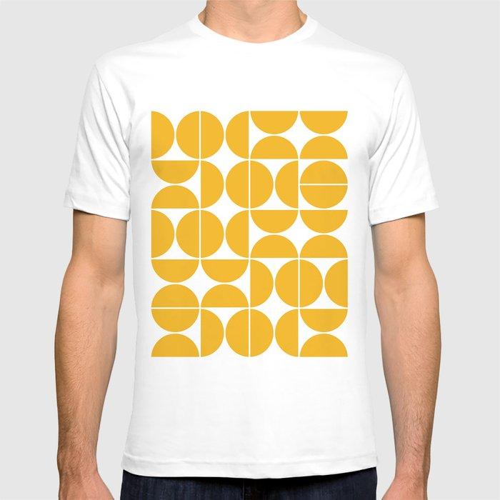 Mid Century Modern Geometric 04 Yellow T-shirt