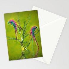 Fantasy parrots Stationery Cards