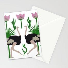 Ostrich & Palms Stationery Cards