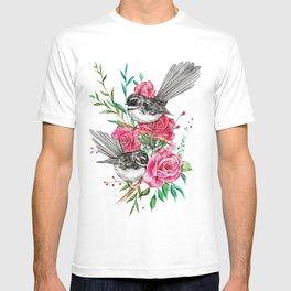 Floral Piwakawakas T-shirt