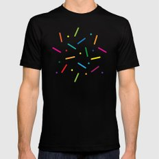 Jelly Bean Colour Black Mens Fitted Tee MEDIUM