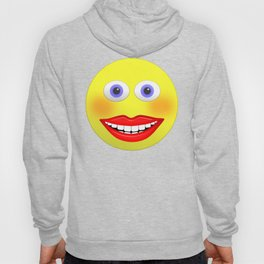 Smiley Female With Big Smiling Mouth Hoody