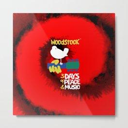 Woodstock 1969 (tie dye background) Metal Print