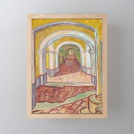 Corridor in the Asylum by Vincent van Gogh, 1889 Framed Mini Art Print