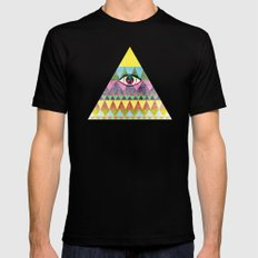 Pyramid in Space. X-LARGE Black Mens Fitted Tee