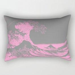 The Great Wave Pink & Gray Rectangular Pillow