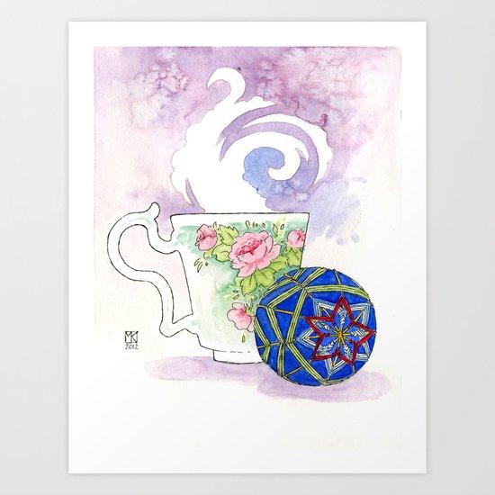 Temari Cup Art Print