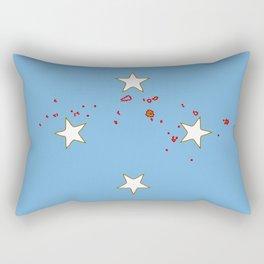 Micronesia Flag with Map of Micronesia Rectangular Pillow