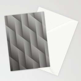 Pantone Pewter Gray Gradient Diamonds, Ombre Geometric Shape Pattern Stationery Cards