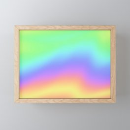 Holographic Foil Colorful Gradient Pattern Framed Mini Art Print