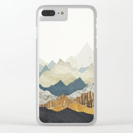 Distant Peaks Clear iPhone Case