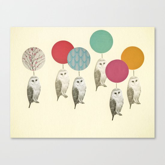 Balloon Landing Canvas Print