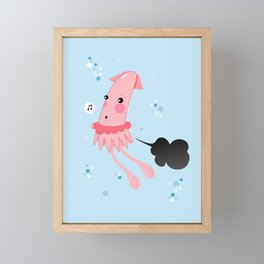 Aquatic Leaks. Squid Troubles Framed Mini Art Print