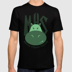 Minty Hippo Squad Mens Fitted Tee Black MEDIUM