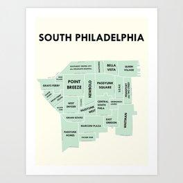 South Philadelphia Version 2 Art Print