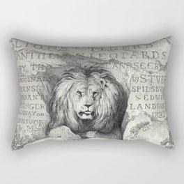 Vintage Lion etching Rectangular Pillow