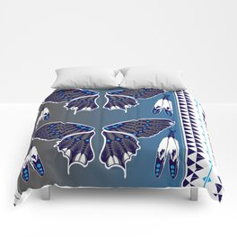 Butterfly Nation Blue Comforters