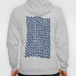 Hand Knit Zoom Navy Hoody