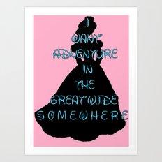 Princess Belle Art Print