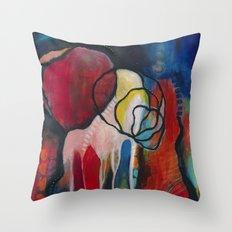 Red Gem Throw Pillow