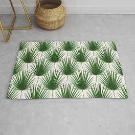 Simple Palm Leaf Geometry Rug