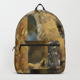 Bear cubs climbing the tree Backpack