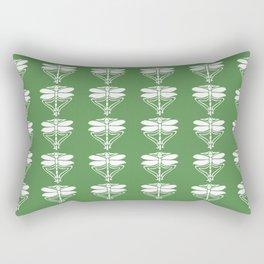 Glade Green Arts and Crafts Dragonflies Rectangular Pillow