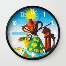 Vintage Sicilia Italia - Sicily Italy Travel Wall Clock