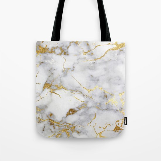 Italian gold marble Tote Bag