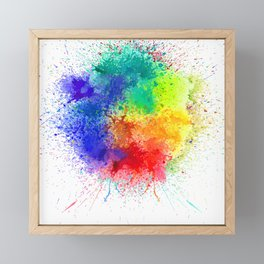 Festival of Colors Framed Mini Art Print