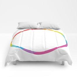 Pride: Rainbow Geometric Circle Comforters