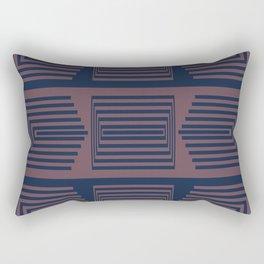 Bicolor Geometric I Rectangular Pillow