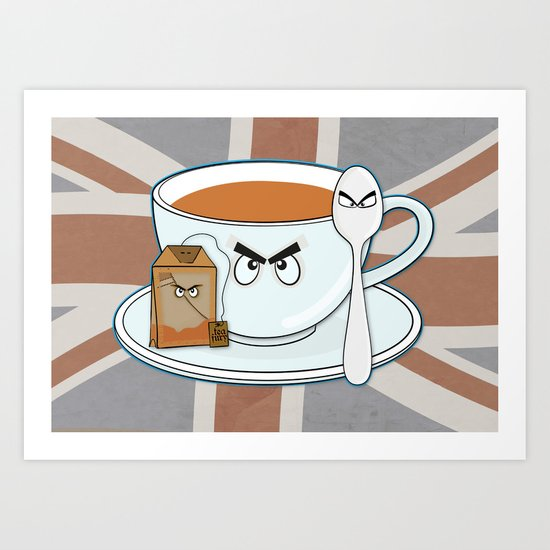 Tea fury Art Print