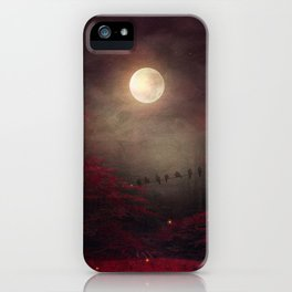 Red Sounds like Poem iPhone Case