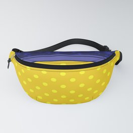 The yellow-blue combo pattern. Fanny Pack